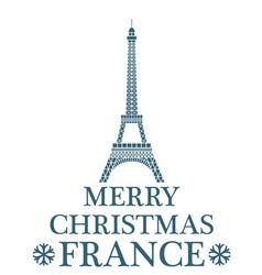 Merry christmas france vector