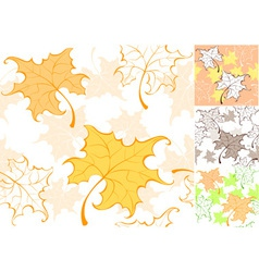 Pattern from autumn sheet vector
