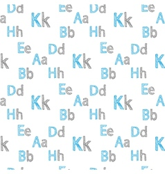 seamless pattern of English letters vector image vector image