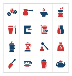 Set color icons of coffee vector image vector image