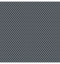 Silver metallic grid pattern vector image vector image