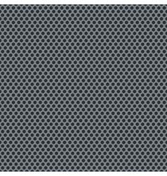Silver metallic grid pattern vector image