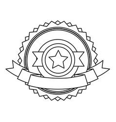 star badge banner ribbon decoration vector image