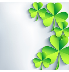 Stylish St Patricks day card with leaf clover vector image vector image