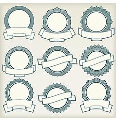 Vintage labels 1 vector image