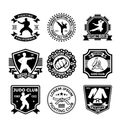 Judo badges vector