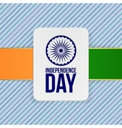 India independence day holiday emblem template vector