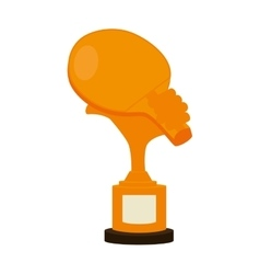 trophy table tennis racket vector image