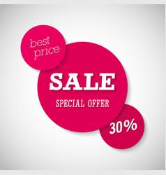 Sale special offer banner vector