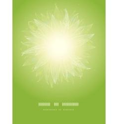 Magical green leaves sunburst vertical temaplate vector