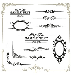 Calligraphy  design elements vector