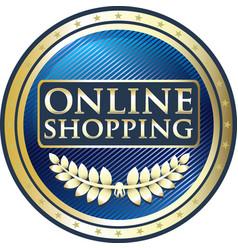 Online shopping label vector
