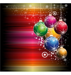 Christmas balls background vector