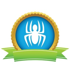 Gold spider logo vector image