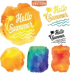 Abstract wtercolor backgroundsummer design vector