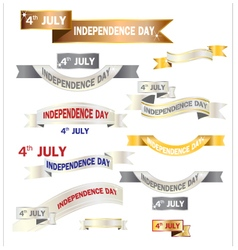 Ribbon american independence day vector