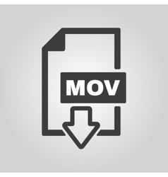 The mov icon video file format symbol flat vector