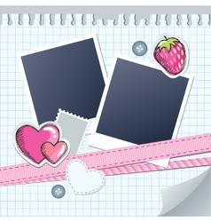 cute frame for photos vector image
