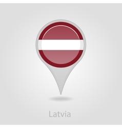 Latvian flag pin map icon vector image
