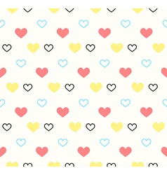 Romantic pattern with hearts background vector