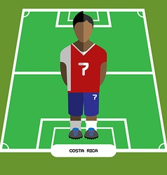 Computer game costa rica football club player vector