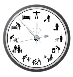 Working day clock vector