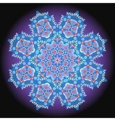 Abstract circular floral pattern ornamental vector image
