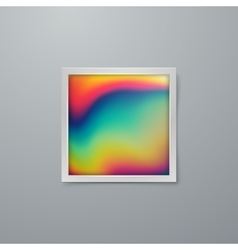Artistic iridescent poster design vector image