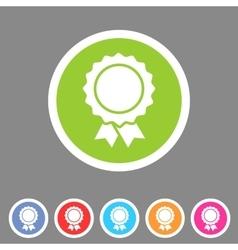 Award ribbon badge icon flat web sign symbol logo vector