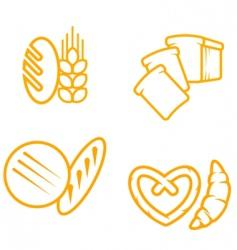 Bread symbols vector
