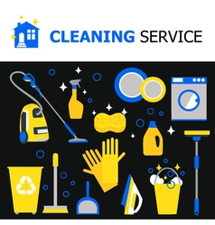 Cleaning equipment collection vector