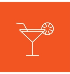 Cocktail glass line icon vector image vector image