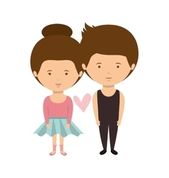 couple dressed ballet costume in love vector image