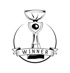 Cup award Isolated on white vector image vector image