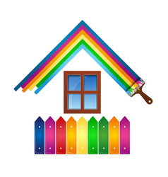 design for painting house vector image