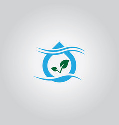 drop nature eco logo vector image vector image