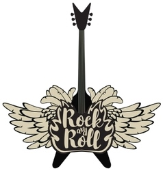 electric guitar and rock and roll vector image vector image