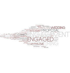 Engaged word cloud concept vector