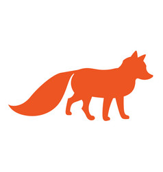 Funny cartoon fox vector
