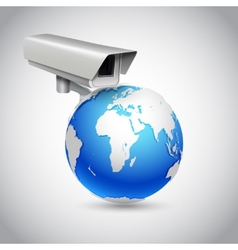 Global surveillance concept vector image
