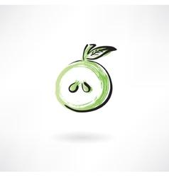 half apple vector image vector image