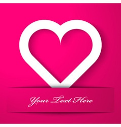 Heart applique on pink background vector