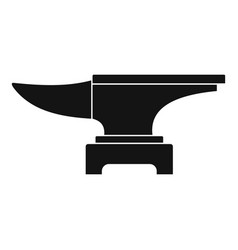 Heavy black metal anvil icon simple vector