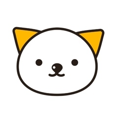 Kitty head vector image
