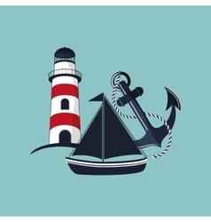 lighthouse emblem image vector image