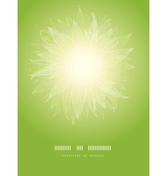 Magical green leaves sunburst vertical temaplate vector image
