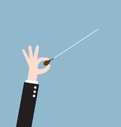 music orchestra conductor hand with baton vector image