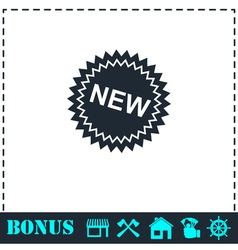 New icon flat vector image vector image