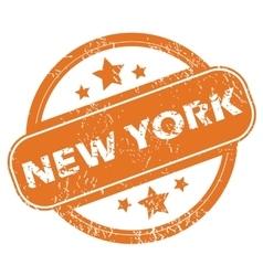 New york round stamp vector