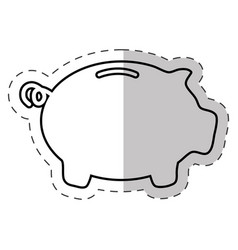 piggy money banking icon vector image vector image